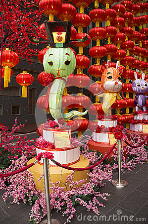 Big Snake Lantern, decoration during Chinese New Year 2013 Editorial Photography