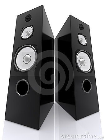 Free Big Speakers Wide Stock Photography - 12015322