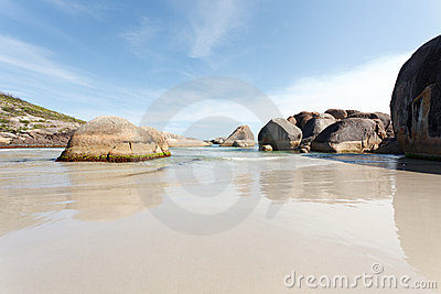 Big stones in the beach of West Australia