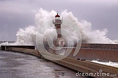 Big stormy wave