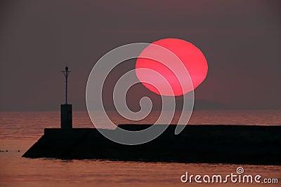 Big sun setting