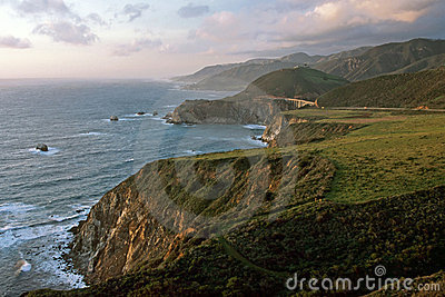 Big Sur in sunset