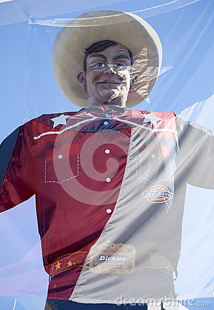 Big Tex and Texas state flag Editorial Stock Photo