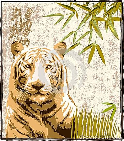 Big Tiger in the Jungle