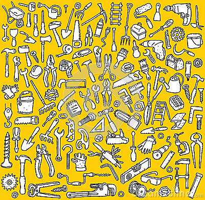 Free Big Tools Icons Collection In Black And White Stock Image - 29987621