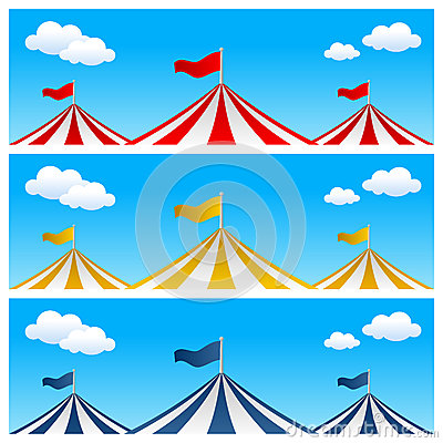 Free Big Top Circus Tent Banners Stock Photography - 30783792
