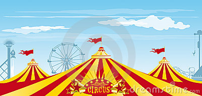 Big top on the sky