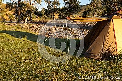 Big tourist tent