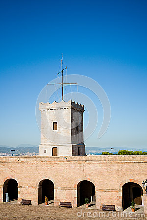 Big tower of Castle of Montjuic, Barcelona