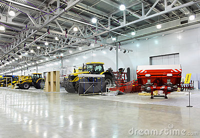 Big tractors are in room at exhibition