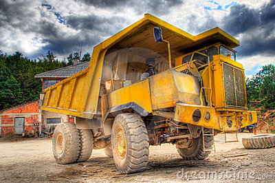 Big truck at construction yard