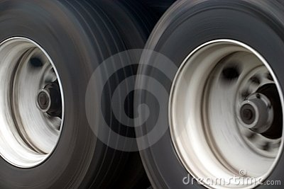 Big Truck Wheels Stock Photo