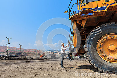 Big Truck and Worker