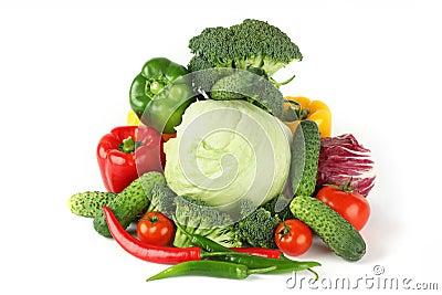 Big vegetarian pile