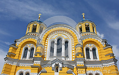 Big Vladimir Cathedral in Kiev in Ukraine
