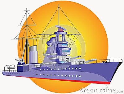 Big warship