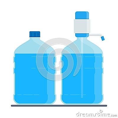 Big water bottle Vector Illustration