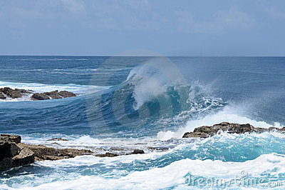 Big wave on the Atlantic coast