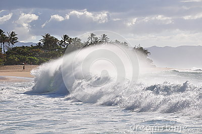Big Wave on Sunset Beach, Oahu, Hawaii