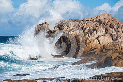 Big waves in Brittany