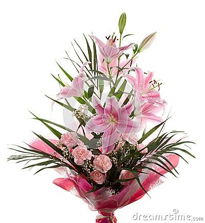 Big wedding bouquet isolated