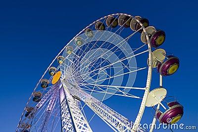 Big wheel in a amusement park