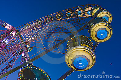 Big wheel in a amusement park