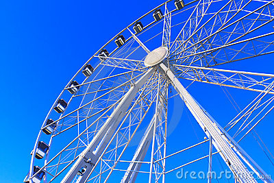 Big Wheel Structure under a Deep Blue Sky