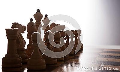 Big white chess pieces set
