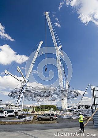 Big white crane Editorial Image