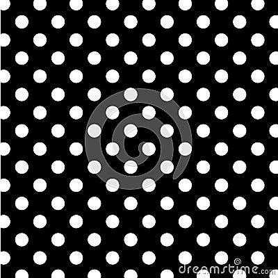 Free Big White Polka Dots On Black, Seamless Background Stock Photo - 7087400