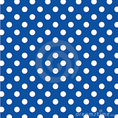 Free Big White Polka Dots On Blue, Seamless Background Royalty Free Stock Photography - 7087407