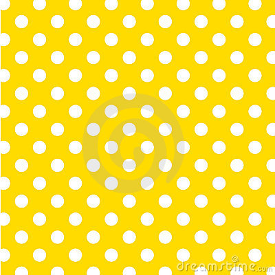 Free Big White Polka Dots On Yellow, Seamless Background Royalty Free Stock Photography - 7087447