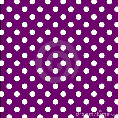 Big White Polka Dots on Purple, Seamless