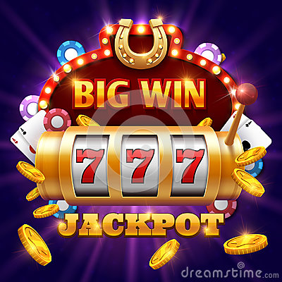 Free Big Win 777 Lottery Vector Casino Concept With Slot Machine Royalty Free Stock Images - 97070389