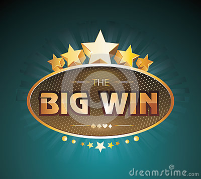Free Big Win Gold Sign For Online Casino, Poker, Roulette Stock Image - 81108141