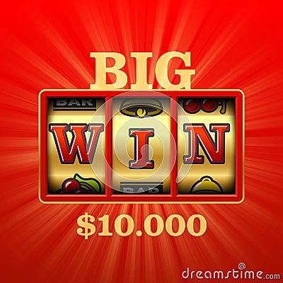 Free Big Win Slot Machine Royalty Free Stock Photos - 76905128