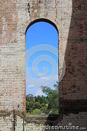 Big window in ruin