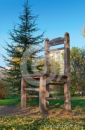 Big wooden chair