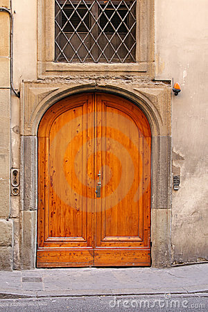 Big wooden door
