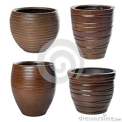 Big wooden flowerpots