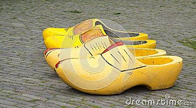 Big wooden shoes