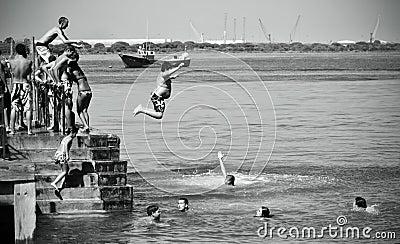 Big Young Jumper Editorial Stock Image