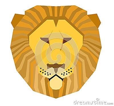 Bigcat Lion Head Stock Vector - Image ...
