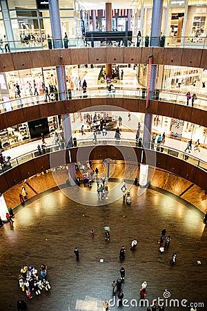 The bigesst mall in the world Dubai Mall Editorial Stock Image