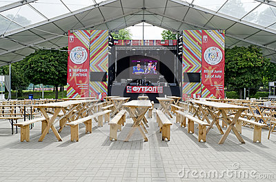 The biggest indoor Fan-zone on Euro-2012 Editorial Image