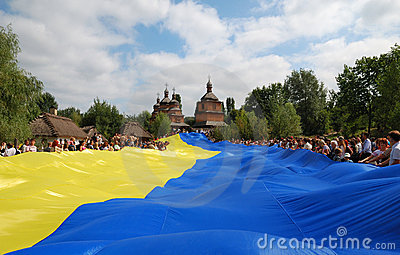 The biggest Ukrainian flag Editorial Image