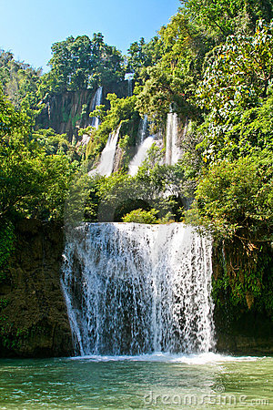 The biggest waterfall in Thailand