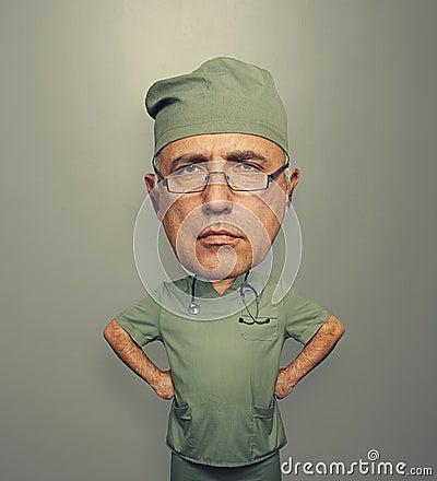 Bighead doctor over grey