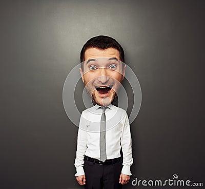 Bighead happy man